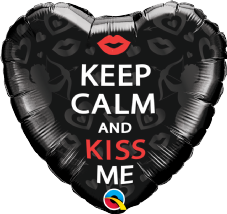 'Keep Calm and Kiss Me' Foil Balloon